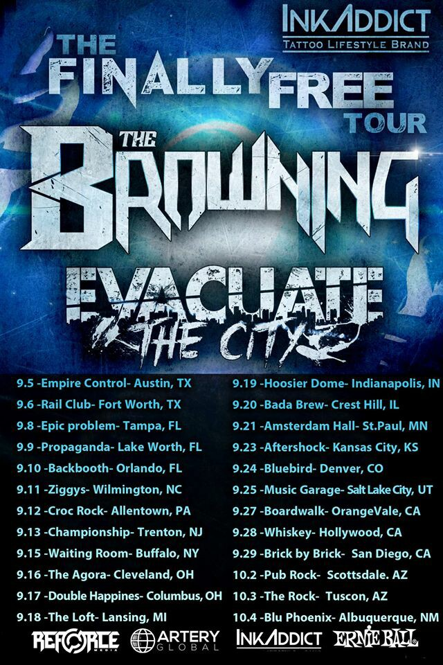 Evacuate the City tours with The Browning