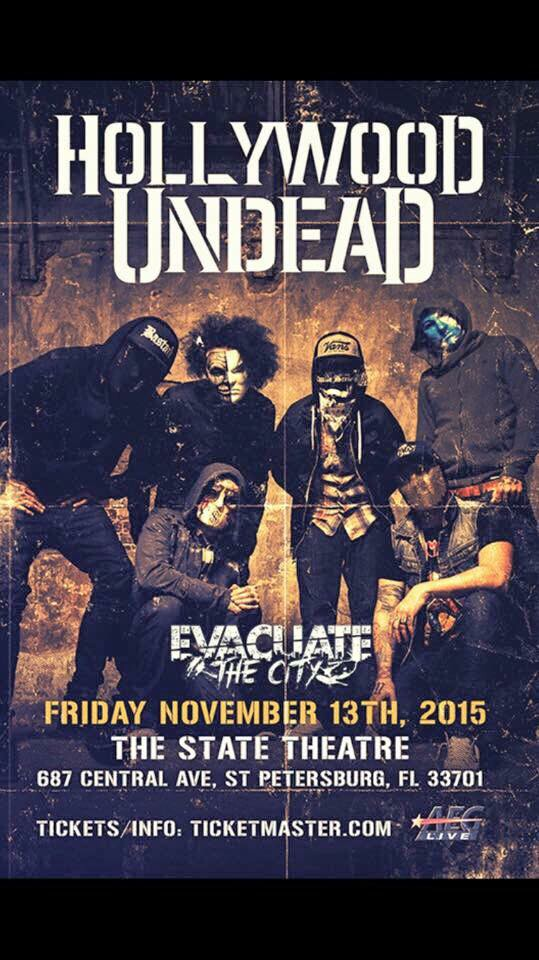 Evacuate the City opens for Hollywood Undead