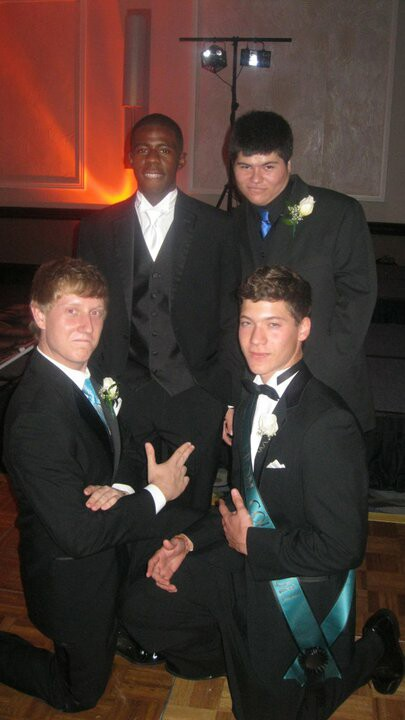 The boys in the band at the Prom